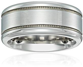 Triton Men's Scott Kay Cobalt Prime Band with Satin Finish and Lasered Millgrain Wedding Bands
