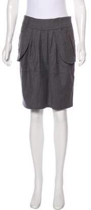 Brunello Cucinelli GUNEX x Wool Plaid Skirt