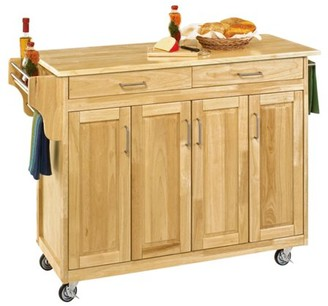 Home Styles Create-a- Kitchen Cart, Natural with Cherry Top