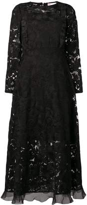 RED Valentino long-sleeved lace dress
