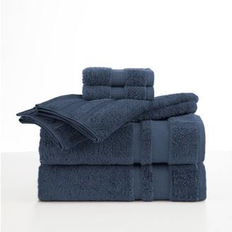 Martex Luxury Supima 6-Piece Navy Towel Set