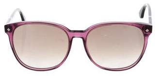 Bottega Veneta Square Reflective Sunglasses