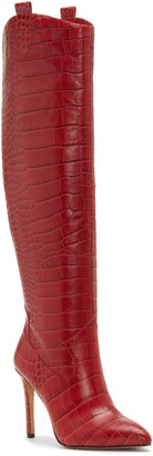 Vince Camuto Kervana Croc Embossed Knee High Boot