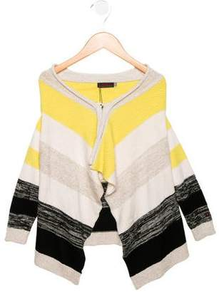 Catimini Girls' Striped Draped Cardigan w/ Tags