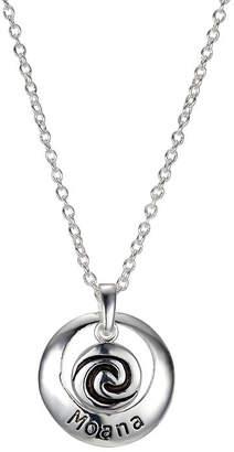 Disney Womens Oval Moana Pendant Necklace