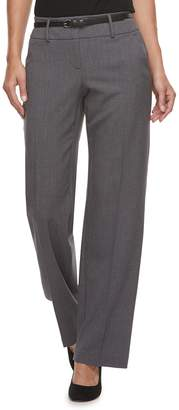 Apt. 9 Petite Belted Mid-Rise Trouser Pants