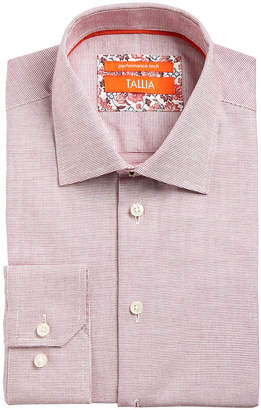 Tallia Men Slim-Fit Non-Iron Performance Stretch Textured Solid Dress Shirt
