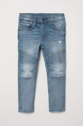 H&M Skinny Fit Biker Jeans - Blue