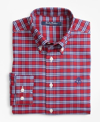 Brooks Brothers Boys Non-Iron Supima Cotton Check Sport Shirt
