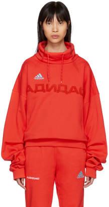 Gosha Rubchinskiy Red adidas Originals Edition Funnel Neck Sweatshirt