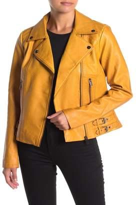 Sebby Faux Leather Moto Jacket