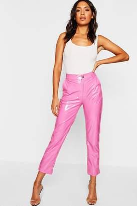 boohoo Vinyl Skinny Trousers