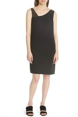 Eileen Fisher Sheer Strap Silk Shift Dress