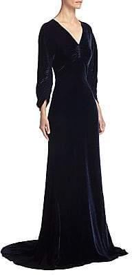 Stella McCartney Women's Velvet Ruched Gown