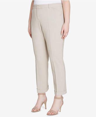 Tahari ASL Plus Size Stretch Slim-Fit Pants