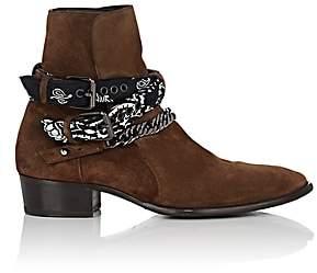 Amiri Men's Bandana-Strap Suede Jodhpur Boots-Brown