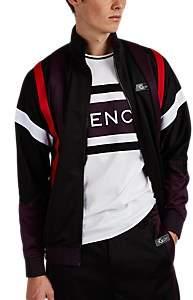 "Givenchy Men's ""3Givenchy"" Logo Fleece Track Jacket - Purple"