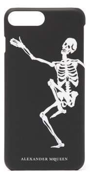 Alexander McQueen Iphone 8 Plus Skeleton Print Case - Mens - Black White