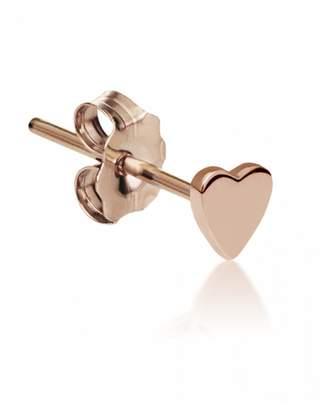 Maria Tash Plain Heart Single Stud Earring - Rose Gold