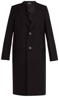 Lanvin Contrast Stitching Wool Twill Coat - Mens - Black