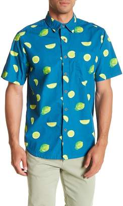 VSTR Short Sleeve Lime Print Modern Fit Shirt