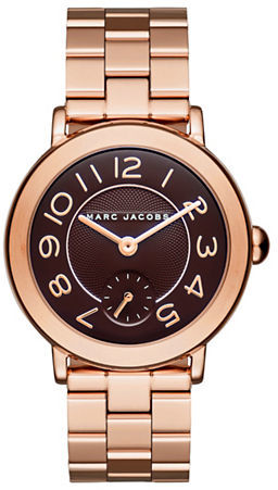 Marc Jacobs Marc Jacobs Riley Rose Goldtone Stainless Steel Three-Link Bracelet Watch, CLCS36RGBRCBUR