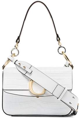 Chloé White C ring small leather shoulder bag