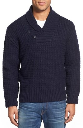 Men's Schott Nyc Shawl Collar Knit Pullover $115 thestylecure.com
