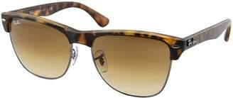 Ray-Ban Men's Clubmaster Oversized Polarized Square Sunglasses