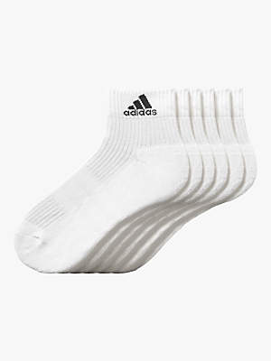 adidas 3S Performance Ankle Half Cushioned Socks, Pack of 6