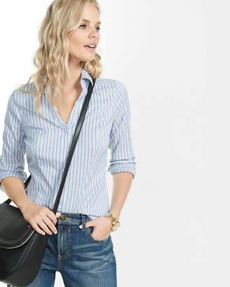 Express Striped Long Sleeve Essential Shirt