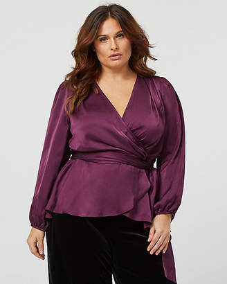 d18a335d9fd24 Plus Size Satin Blouse - ShopStyle Canada