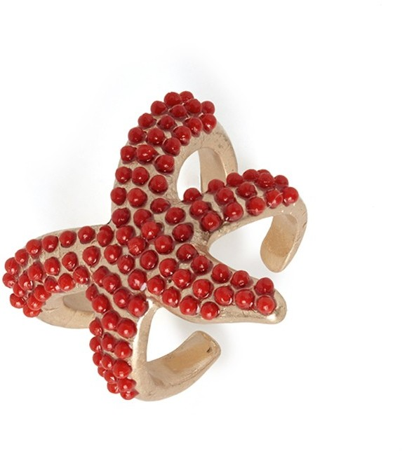 BaubleBar Coral Sea Star Ring