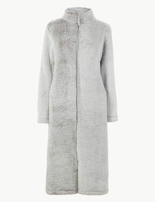 Marks and Spencer Fleece Zip-up Dressing Gown