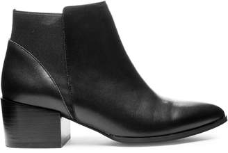 Chinese Laundry Finn Block Heel Leather Booties
