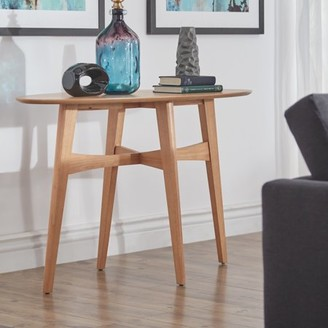 Weston Home Carole Oval Wood Entryway Console Table, Multiple Colors