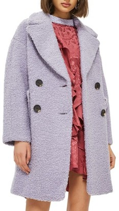 Topshop Women's Alicia Boucle Slouch Coat