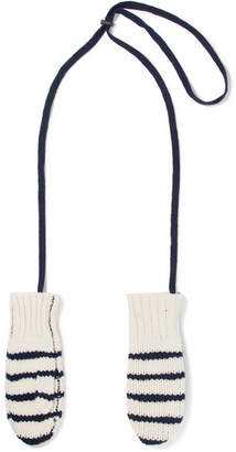 Rag & Bone Striped Wool Mittens - Ivory