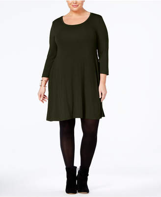 Style&Co. Style & Co Plus Size Scoop Neck Swing Dress