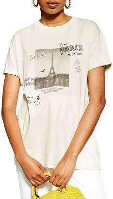 Topshop Paris Doodle Tee