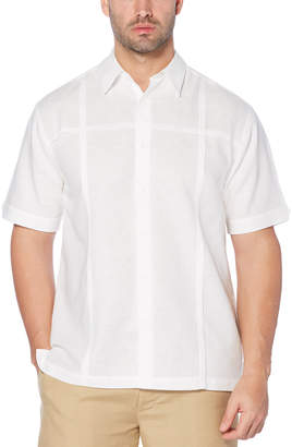 Cubavera Tucks Panel Linen Blend Shirt
