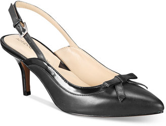 Adrienne Vittadini Simka Pointed Toe Slingback Pumps $99 thestylecure.com