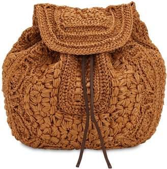 Alberta Ferretti Viscose Crochet & Leather Backpack