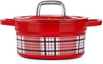 Martha Stewart Collection CLOSEOUT! Red Plaid 2-Qt. Enamel Cast Iron Dutch Oven, Created for Macy's