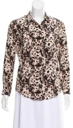 The Kooples Silk Button-Up Top