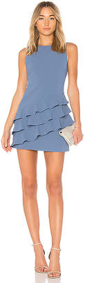 Alice + Olivia Clive Asymmetric Ruffle Dress