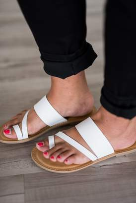 Christy Sandals - White