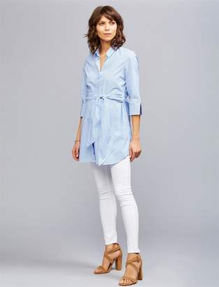 AG Jeans Secret Fit Belly Legging Ankle Maternity Jeans- White