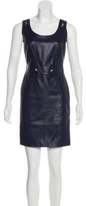 Versace Studded Leather Dress