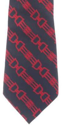 Celine Abstract Print Silk Tie